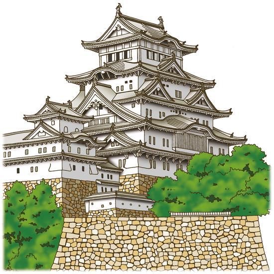 兵庫・姫路城「城を愛でる」 ◆姫路城 ★VISAカード会員向け情報誌「VISA」姫路城や城の構造